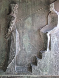 La Sagrada Familia, detail on door (Pontius Pilate)