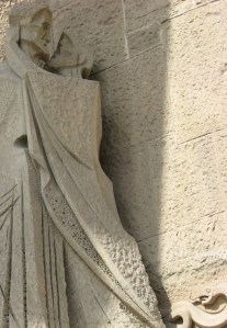 La Sagrada Familia, sculptural detail
