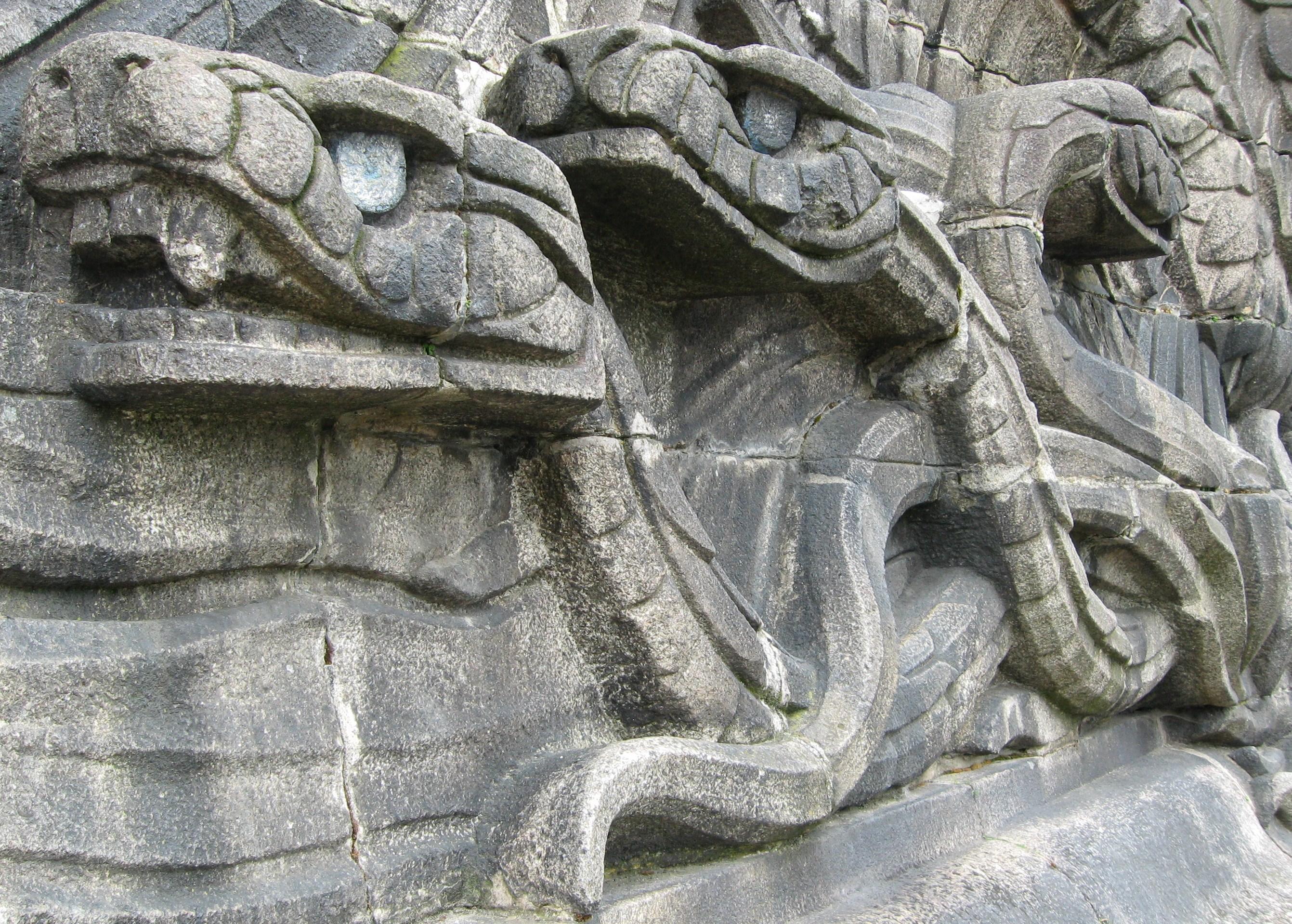 Stone Snakes, Deutsches Eck, Koblenz, Germany