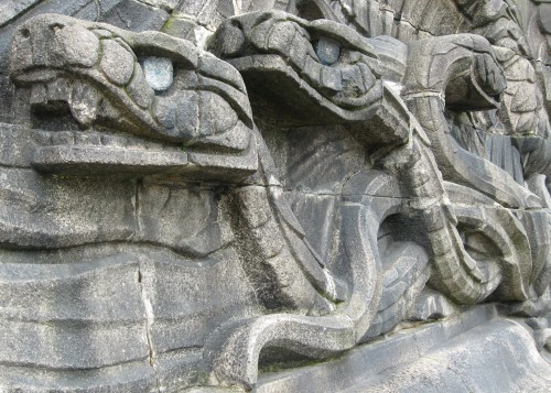 Stone Snakes, Deutsches Eck, Koblenz, Germany